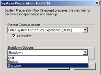 Windows Server 2008 R2 Üzerinde Sysprep Tool