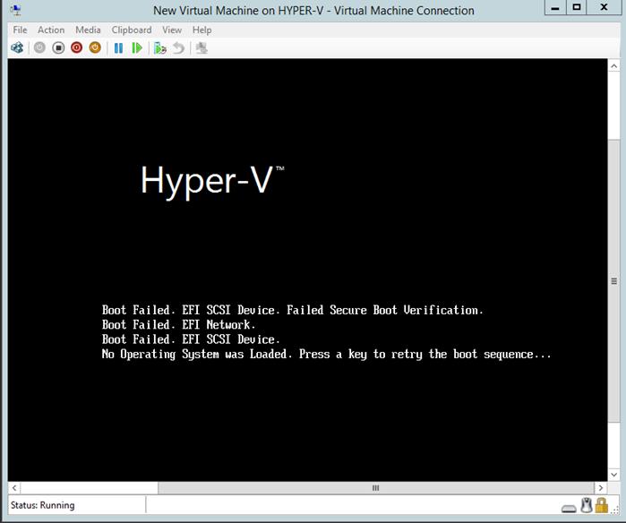 Hyper-V Generation 2 VM Uyum Problemi