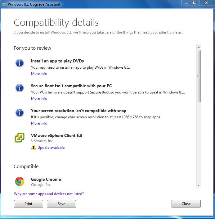 Windows 8.1 Upgrade Assistant (tr-TR)