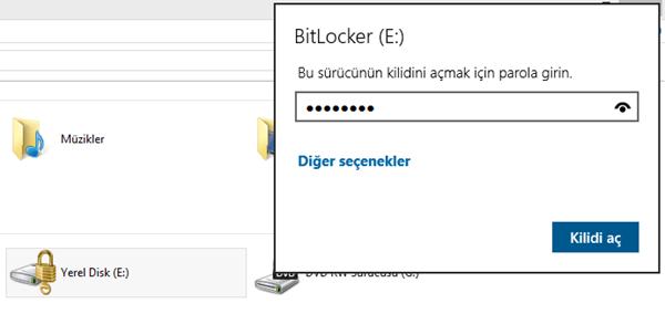 Windows 8.1  BitLocker ile Sürücü Şifreleme