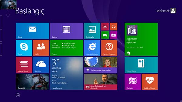 Windows 8.1 Uygulamalar Arasında Geçiş Yapın