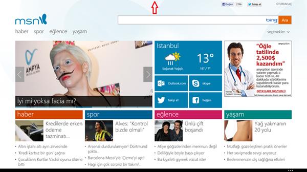 Windows 8.1 Açık Uygulamayı Kapatın