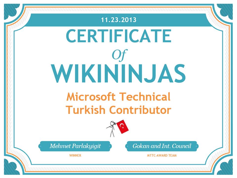 Microsoft Technical Turkish Contributor
