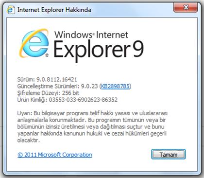 Internet Explorer Giriş Sayfası Kilidinin Kaldırılması