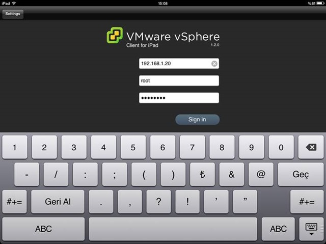 VMware vCenter Mobile Access