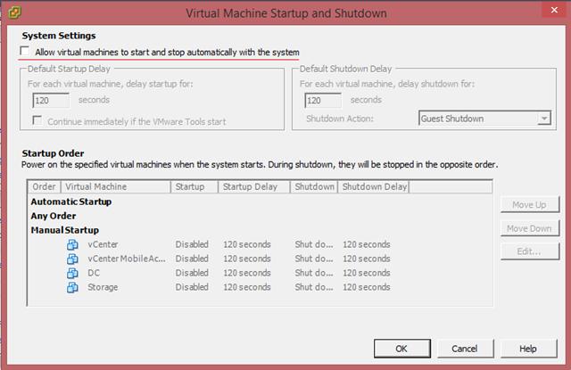 ESXi Sunucunuz Reboot Olduğunda VMs Otomatik Olarak Açılsın