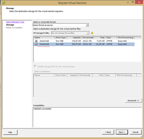 vCenter 5.5  Virtual Machine  Datastore & Host Migrate