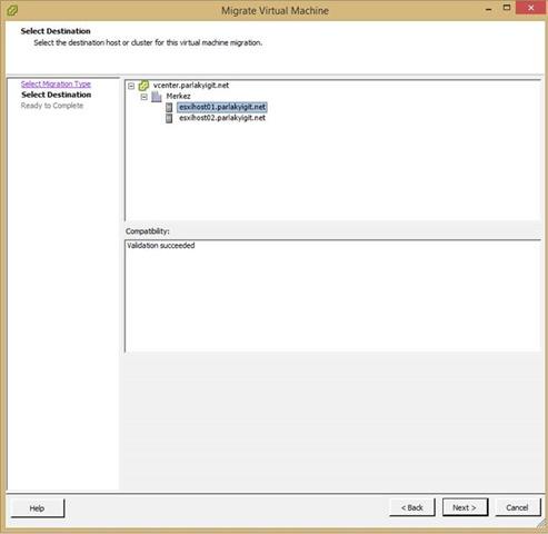 vCenter 5.5  Virtual Machine  Datastore & Host Migrate