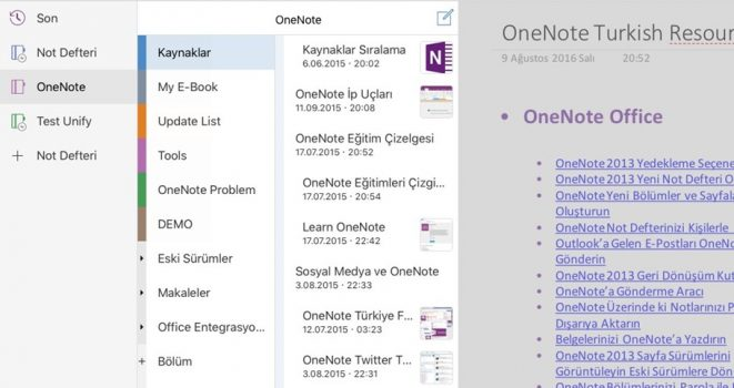 iPad OneNote App Experimental