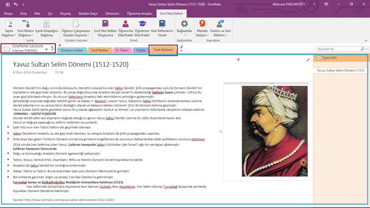 OneNote Class Notebook Eklentisi ile Sayfa Dağıtımı