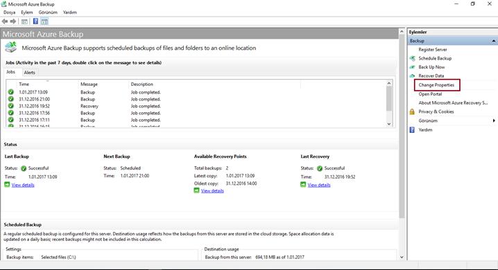 Microsoft Azure Backup (Bandwidth Optimization) 4 Bölüm – Unify Türkiye