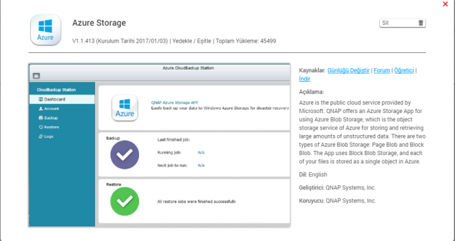 QNAP Azure Storage ile Verilerinizi Azure Yedekleyin ve Kurtarın 3.Bölüm