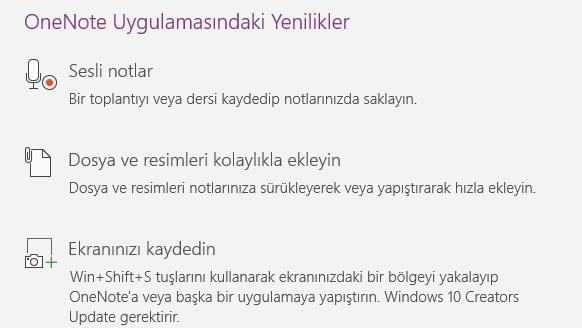 Windows 10 OneNote Uygulaması ile Sesli Notlar Alın