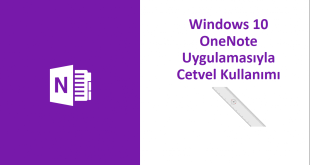 Windows 10 OneNote Uygulamasıyla Cetvel Kullanımı